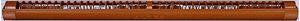 Fa ablak nyomáskülönbséggel vezérelt szellőző barna színben