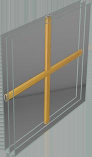 Fa ablak üveg közötti álosztás