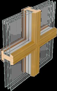 Fa ablak valódi osztás